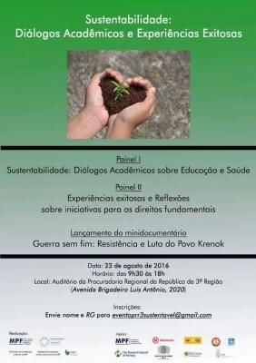 Sustentabilidade: Diálogo Acadêmicos e Experiências Exitosas