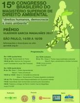 (APRODAB) 15º Congresso Brasileiro do Magistério Superior de Direito Ambiental