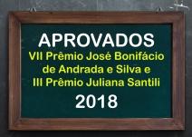 Resultado do VIII Prêmio José Bonifácio de Andrada e Silva