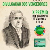 VENCEDORES do X Prêmio José Bonifácio de Andrada  e Silva